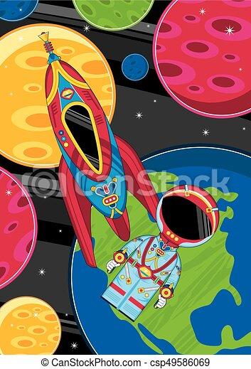宇宙船 宇宙人 かわいい 宇宙人 スペースイラスト 漫画 ベクトル