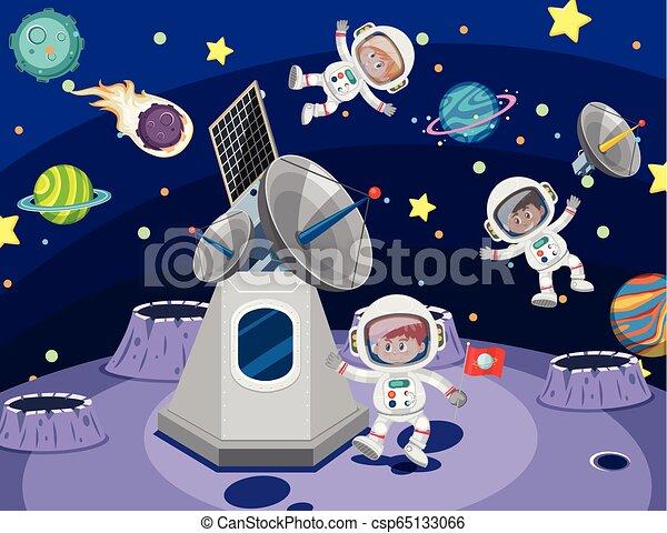 宇宙飛行士, スペース - csp65133066