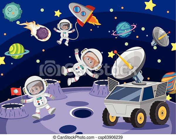 宇宙飛行士, スペース - csp63906239