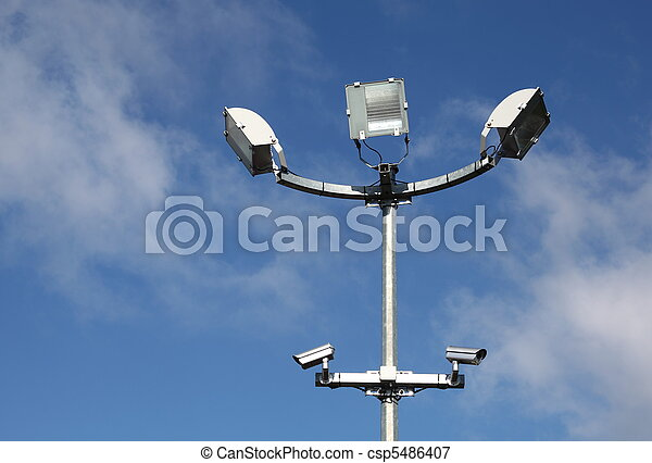 安全, 光, 監視照像机 - csp5486407