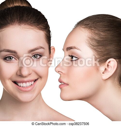 完全, 新たに, 女, 若い, 皮膚 - csp38237506