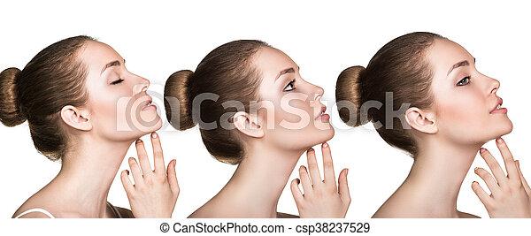 完全, 新たに, 女, 若い, 皮膚 - csp38237529