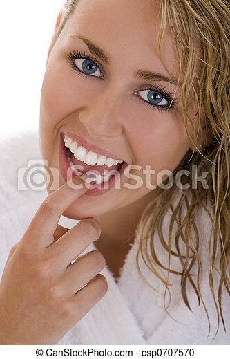 完美的牙齒 - csp0707570