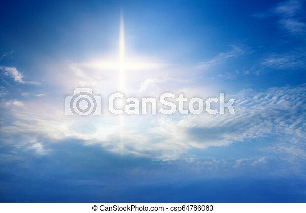 宗教, heavenly, 交差点, シンボル, 形 - csp64786083