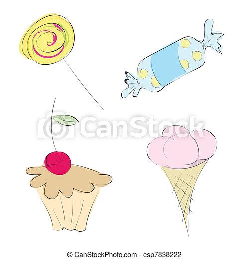 定型, sweets., 図画 - csp7838222