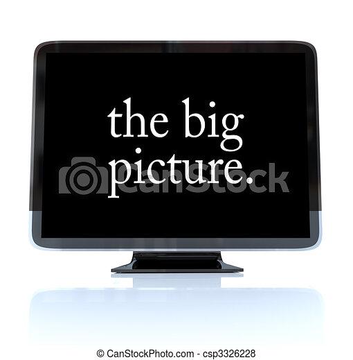 定義, テレビ, 映像, 大きい, -, 高く, hdtv - csp3326228