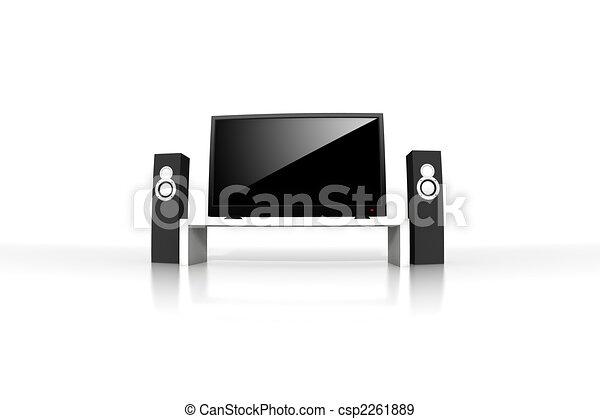 定義, テレビ, 隔離された, 高く - csp2261889