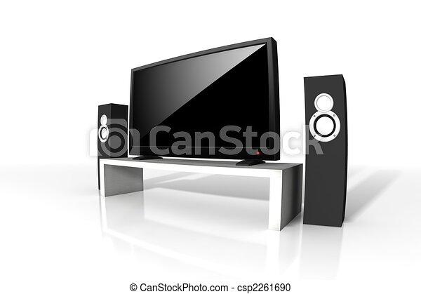 定義, テレビ, 高く - csp2261690