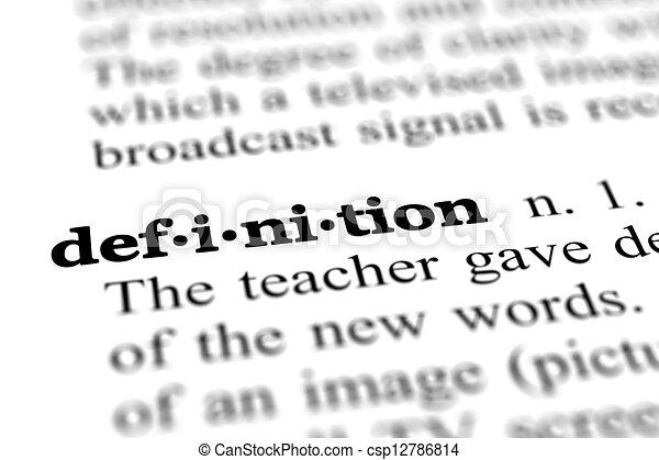 定義, 単語, 辞書 - csp12786814