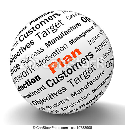 定義, 手段, 管理する, 球, 計画, 計画, 目的, ∥あるいは∥ - csp19783908