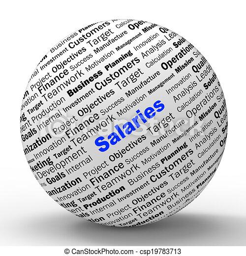定義, incomes, 手段, salaries, 雇用者, 球, 所得, ∥あるいは∥ - csp19783713