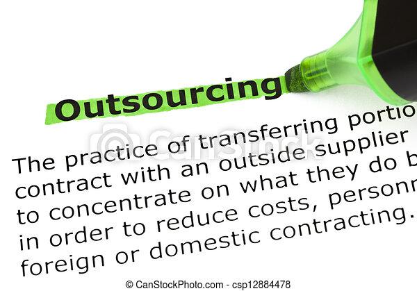 定義, outsourcing - csp12884478