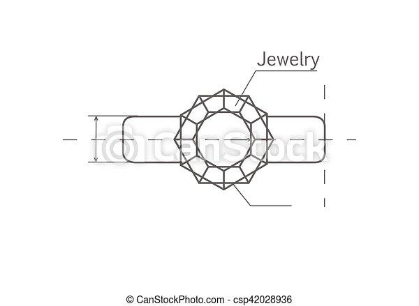 宝石 リング ベクトル 図画 イラスト リング Design 完全