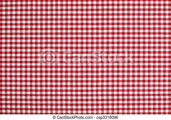 実質, テーブル, ピクニック, 布 - csp3318096