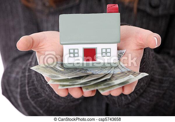 実質, ローン, 概念, 財産 - csp5743658