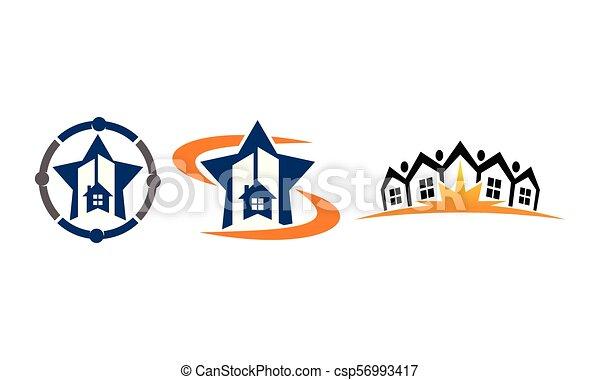 実質, 家, セット, 財産 - csp56993417
