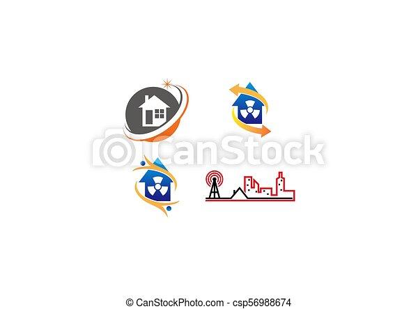 実質, 家, セット, 財産 - csp56988674