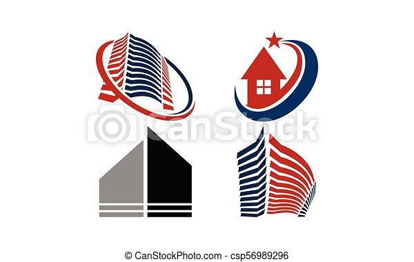 実質, 家, セット, 財産 - csp56989296