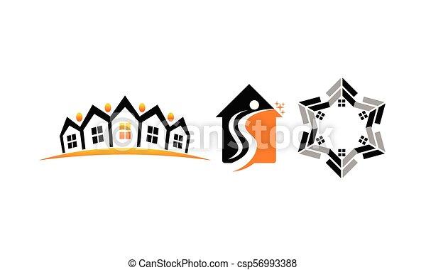 実質, 家, セット, 財産 - csp56993388