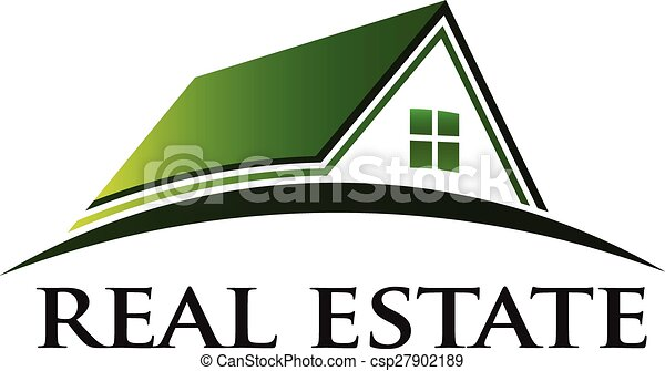 実質, 家, 緑, 財産, ロゴ - csp27902189