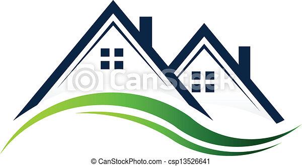 実質, 家, 財産 - csp13526641