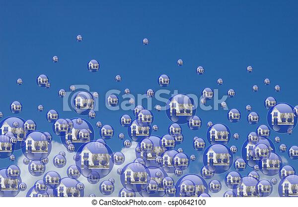 実質, 泡, 財産 - csp0642100