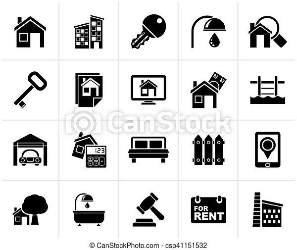 実質, 黒, 財産, ビジネス アイコン - csp41151532