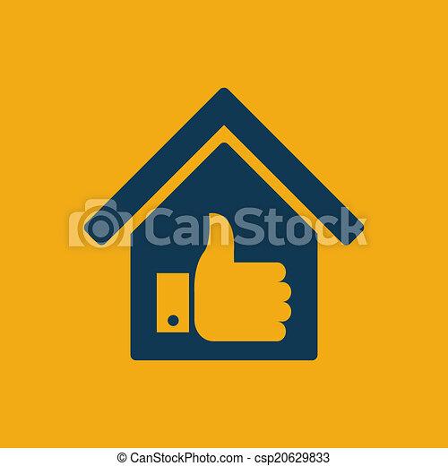 実質, icon., 財産 - csp20629833