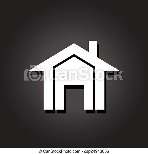 実質, image., 財産, 家, ベクトル, アイコン - csp24943056