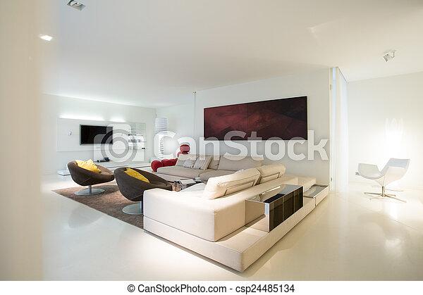 客厅, 纯粹, 住处 - csp24485134