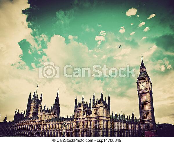 宮殿, 大, 倫敦, westminster, uk., ben - csp14788849