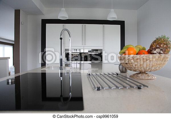 家廚房, 看法, 當代, 一般 - csp9961059
