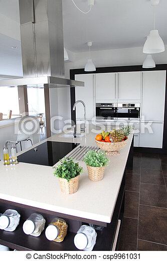 家廚房, 看法, 當代, 一般 - csp9961031