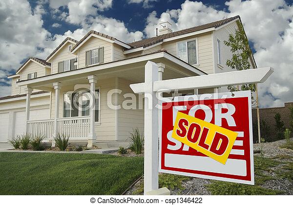 家房屋, 出售, 销售征候 - csp1346422