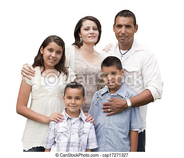 家族, ヒスパニック, 魅力的, 肖像画, 白, 幸せ - csp17271327