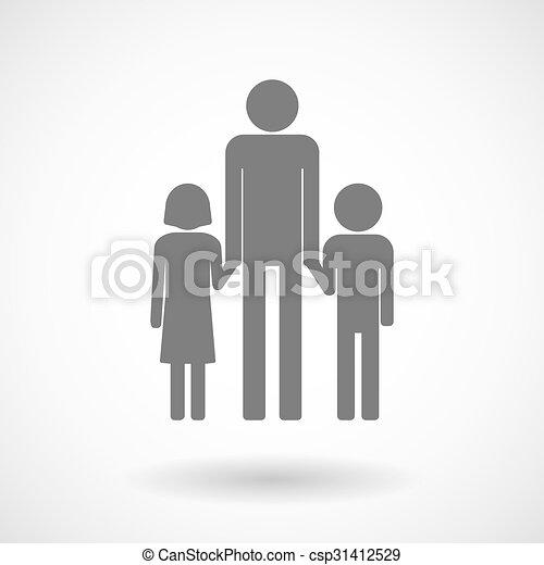 家族, 親, pictogram, イラスト, 単一, マレ - csp31412529