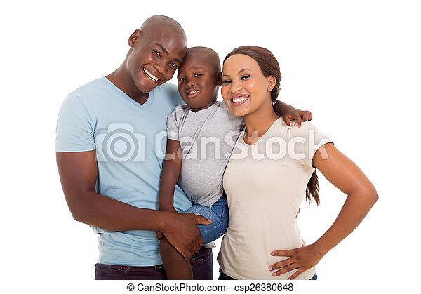 家族, african american, 若い - csp26380648