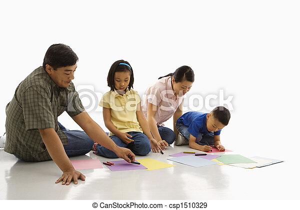 家族, coloring. - csp1510329