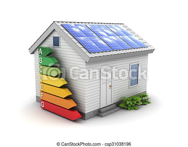 家, エネルギー, 緑 - csp31038196