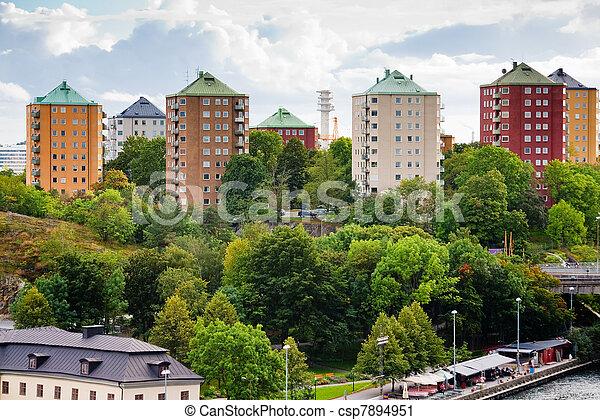 家, スウェーデン, ストックホルム, 市の - csp7894951