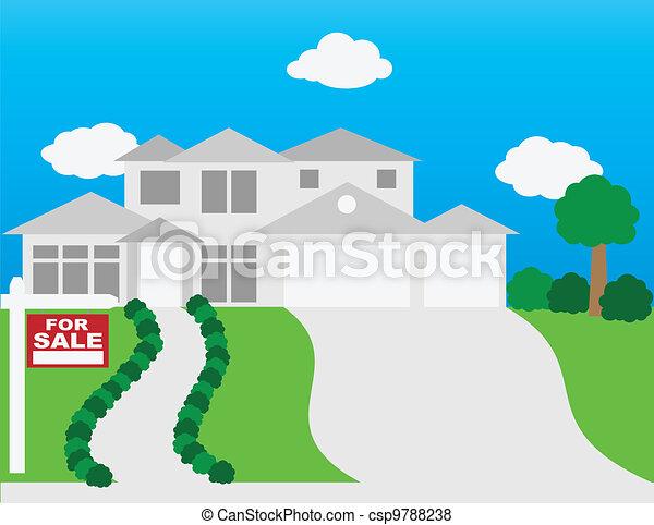 家, セール, イラスト - csp9788238