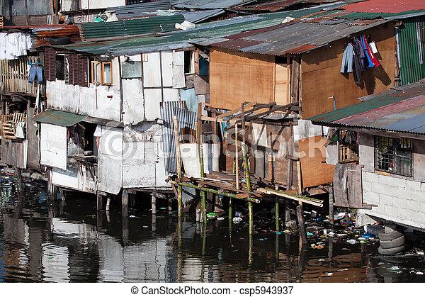 家, フィリピン, 窮乏, -, 無断居住者 - csp5943937