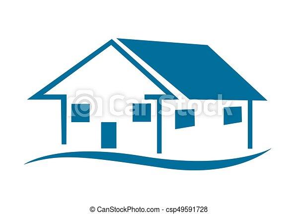 家, ベクトル, アイコン - csp49591728