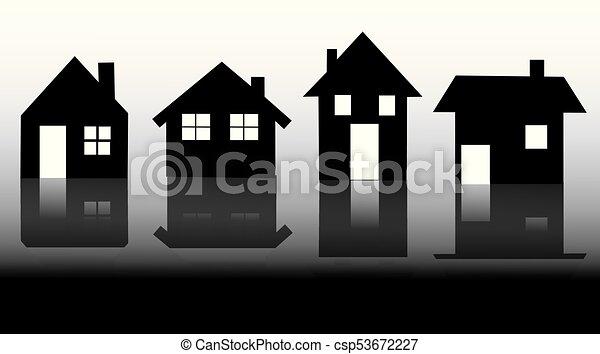 家, ベクトル, アイコン - csp53672227