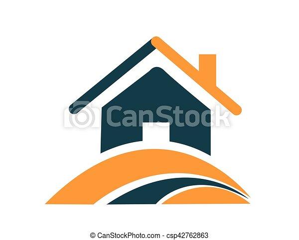家, ベクトル, アイコン - csp42762863