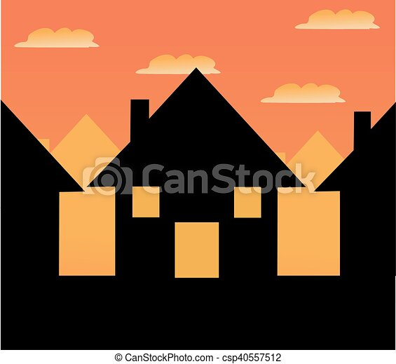 家, ベクトル, アイコン - csp40557512