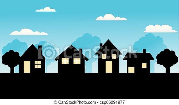 家, ベクトル, アイコン - csp66291977