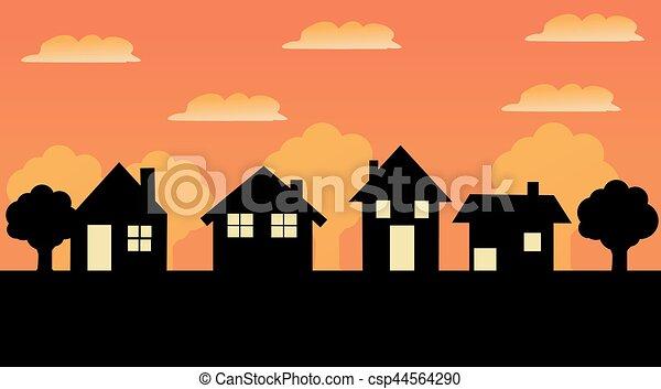 家, ベクトル, アイコン - csp44564290