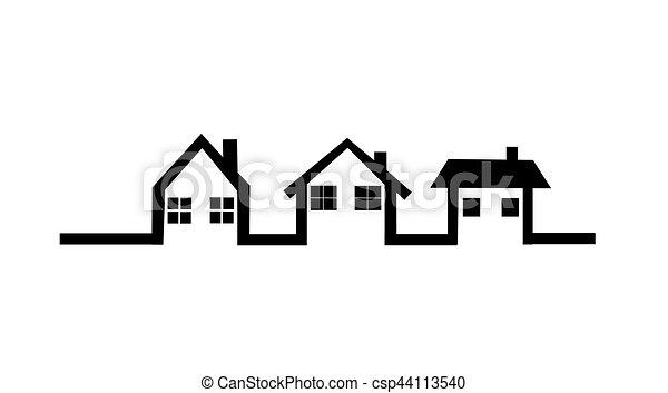 家, ベクトル, アイコン - csp44113540