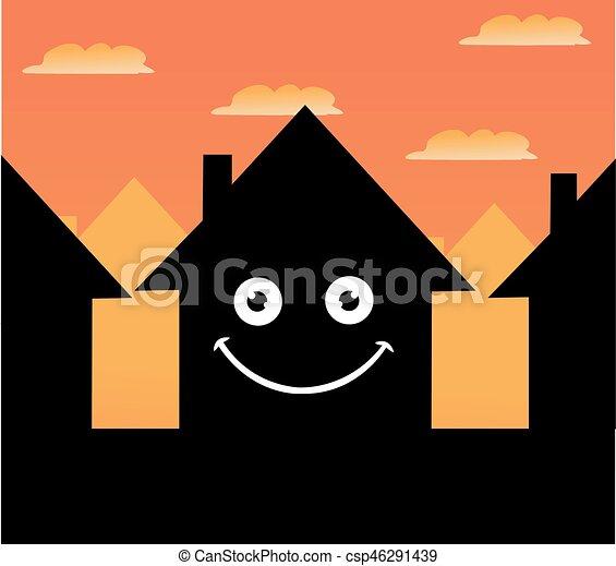 家, ベクトル, アイコン - csp46291439